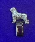 Dog Show Breed Ring Number Clip - Briard - FULL BODY Silver or Gold Style